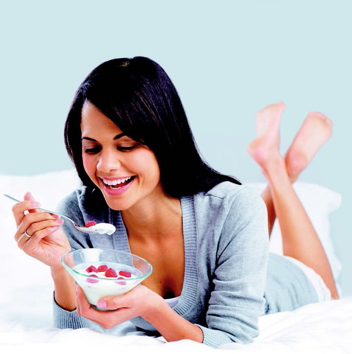Greek yogurt woman
