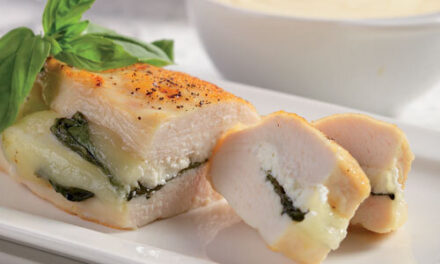 Chicken with Cheese and Basil (Kotopoulo me tyri kai vasiliko)