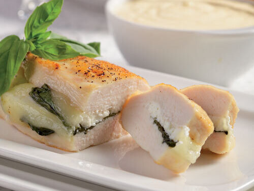 Chicken with Cheese and Basil