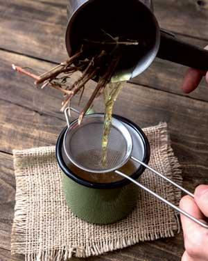 herbs-prepare mountain tea