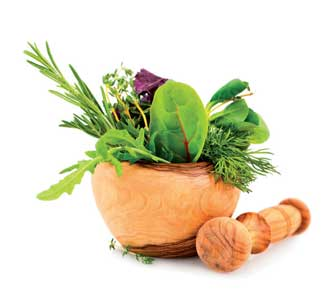 herbs and spices pot