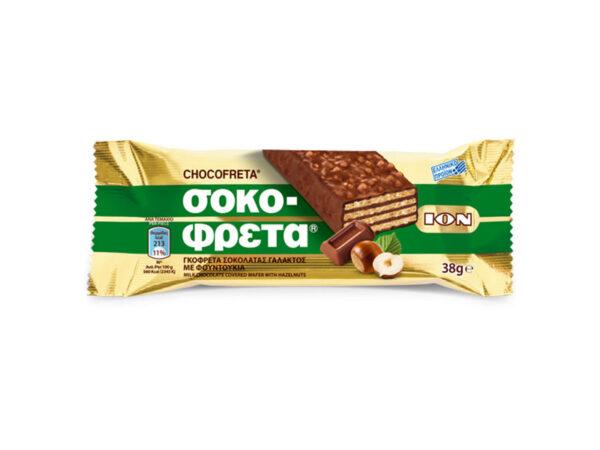 chocofreta milk chocolate with hazelnuts