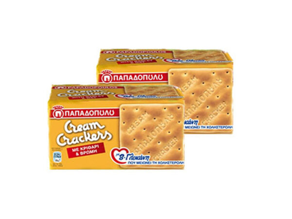 Cream crackers-with barley and oats