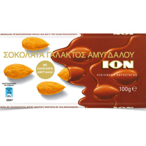 Whole almonds milk chocolate