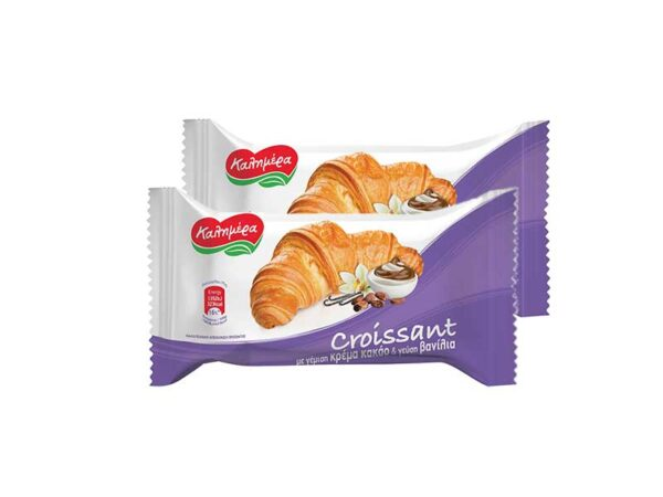 croissant with vanilla and cocoa