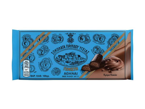 bitter chocolate with cocoa cream