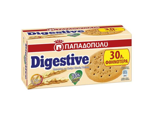 Digestive biscuits less fat