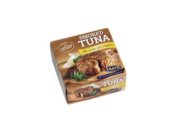 Smoked tuna with lemon