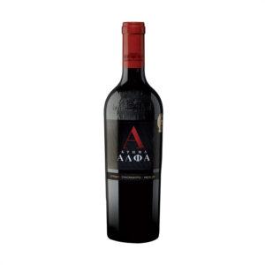 Alpha red dry wine Syrah