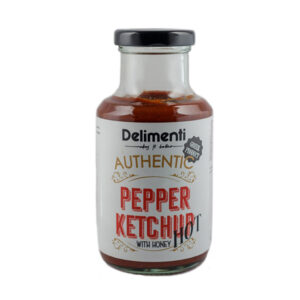 Pepper ketchup hot with honey