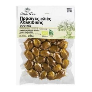 Organic green olives 200g - Olea tee